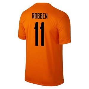 NIKE ROBBEN #11 Holland Home Jersey 2014-15/サッカーユニフォーム オランダ ホーム用 背番号11 ロッベン 2014-15 (M)