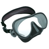 New Oceanic Shadow Scuba Diving & Snorkeling Mask (Black on Black) with FREE Neoprene Comfort Strap...