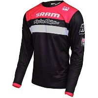 Troy Lee Designs Sprint Jersey – Long Sleeve – Men 'sチームブラック、S