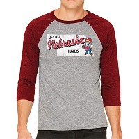 NCAAミシシッピOle Miss Rebelsメンズ3 / 4 Baseball Tee XL グレイ