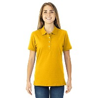 Jerzees Ladies ' Jersey Polo with SpotShield ゴールド