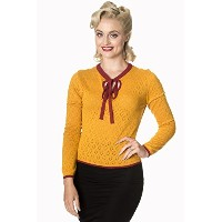 Banned Apparel - First Love Knit Top 2XL / Mustard
