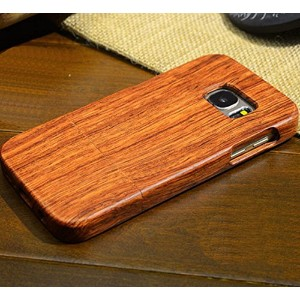 Galaxy S6 ケース, Handmade Rosewood Wooden Sculture Texture カバー, TAITOU Ultra Slim Thin Combined Wood...
