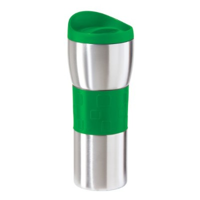 Oggi 8062.11 Stainless Steel Travel Mug with EZ-Twist Lid, Green Grip and Lid, 16-Ounce   水筒 タンブラー...