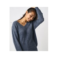 【AZUL BY MOUSSY】MIXカラー前後2WAY長袖プルオーバー AZUL BY MOUSSY/アズール バイ マウジー/レディース/トップス ニット