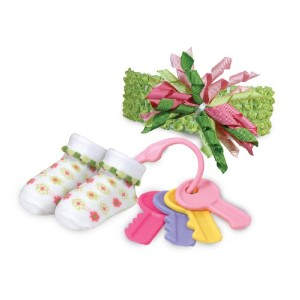 Stephan Baby Swirly Flower Bootie Socks, Key Rattle and Curly Band Gift Set, 0-6 Months by Stephan...