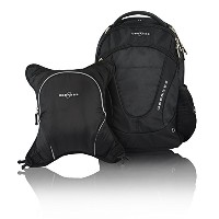 Obersee Oslo Diaper Bag Backpack with Detachable Cooler, Black / Black by Obersee