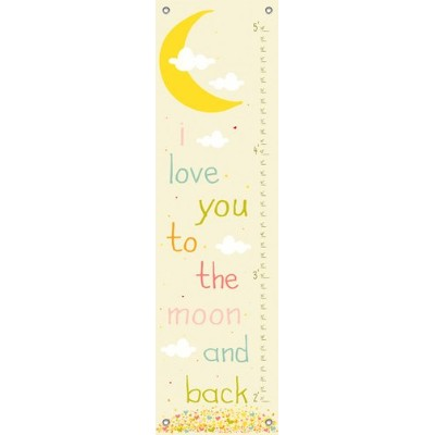 Oopsy Daisy Growth Charts Lunar Love Finny and Zook, Yellow, 12 x 42 by Oopsy Daisy