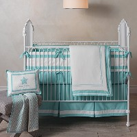 Lambs & Ivy Classic Aqua 3-Piece Crib Bedding Set by Lambs & Ivy