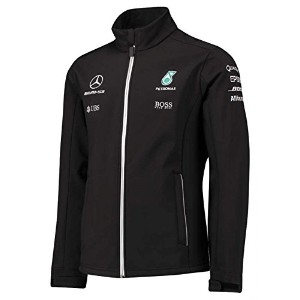 Mercedes AMG F1 Replica Team Soft Shell Jacket Black Official 2017