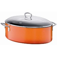 Silit 8–1/ 4-quart Oval Roasting Pan with Lid