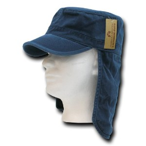 Rapid Dominance 107-PL-NVY-07 Foreign Legion Flap Caps - Navy, Large And Extra Large