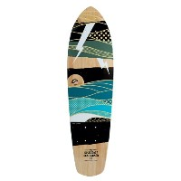 GOLDCOAST BAMBOO CRUISER SKATEBOARD DECK 27 - THE SALVO by Gold Coast