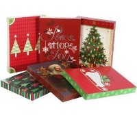 Assorted Christmas Themed Lingerie Sized Gift Boxes, 3-ct. Pack by Christmas House
