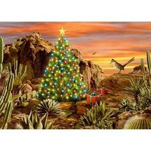 Desert Glow - LPG Western Box of 18 Christmas Cards by LPG Greetings