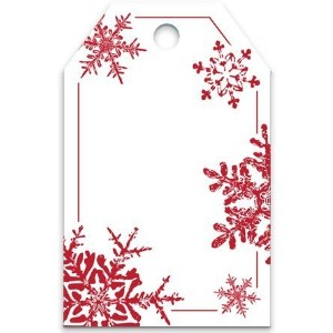50 Red Snowflakes Printed Gift Tags 2-1/4x3-1/2 by CakeSupplyShop