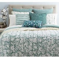 SKY - Ombre Vines Reversible Green and White Floral King Duvet Set by Sky [並行輸入品]