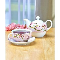 Floral Tea For One (Pink Cherry Blossoms) by GetSet2Save