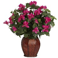 Nearly Natural 6652 Bougainvillea with Vase Decorative Silk Plant Beauty by Nearly Natural [並行輸入品]