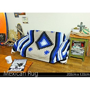 RUG&PIECE Native Mexican Rug ネイティブ柄 メキシカンラグ 200cm×120cm (rug-5758)