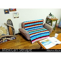 RUG&PIECE Mexican Serape made in mexcico ネイティブ メキシカン サラペ メキシコ製 190cm×95cm (rug-5826)