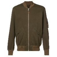 Rrl - zipped bomber jacket - men - コットン - XL
