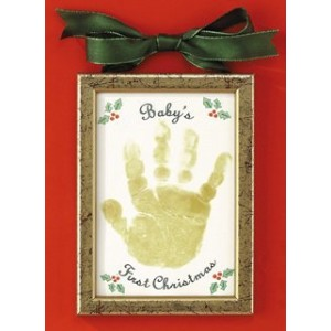 Baby's First Christmas Handprint Ornament by Abernook