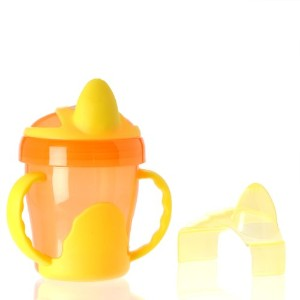 Vital Baby Two Handled Trainer Cup, Orange, 7 Ounce by Vital Baby