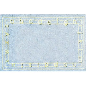 The Rug Market Abc Blue Children's Area Rug, 2.8' X 4.8 by The Rug Market