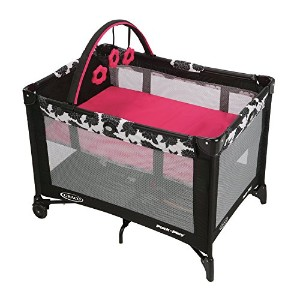 Graco Pack N Play Playard with Automatic Folding Feet, Azalea by Graco [並行輸入品]