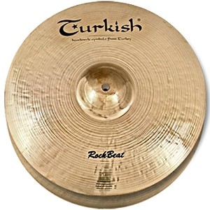 Turkish Cymbals Rock Series 14-inch Rock Beat Hi-Hat Flat Hole * RB-HF14