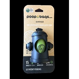 Original Fire Hydrant Poop Bag Dispenser by The Original PoopBags