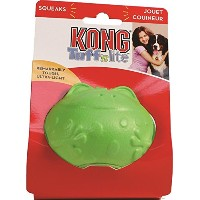 Kong Tuff N Lite Frog Squeaker Lightweight Power Chewers Pet Dog Fun Toy Small