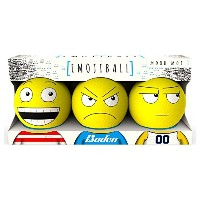Baden Mood Mob 1 Emoji Ball (3 Pack), Yellow [並行輸入品]