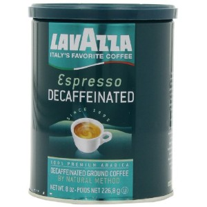 Lavazza Decaffeinated Espresso Ground Coffee, Medium roast, 8-Ounce Cans (Pack of 4) by Lavazza