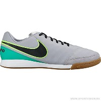 Nike Tiempo Genio Leather II Indoor Shoes(Wolf Grey/Black/Clear Jade) /サッカースパイクティエンポ ジェニオ II レザー...