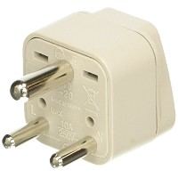 Travel Smart by Conair Grounded Adapter Plug - India, Hong Kong, Parts of South Africa, and...