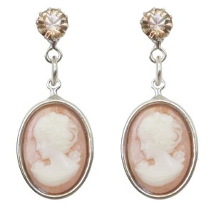 Tarina Tarantino Jewelry Iconic Blush Smallカメオドロップイヤリング