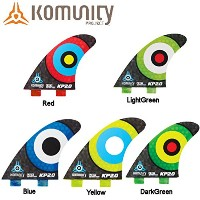 komunity フィン KP2.0 HONEY COMB-THRUSTER FCS ブルー