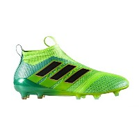 adidas ACE 17+ Purecontrol Firm Ground Cleats - Solar Green / Core Black (US Size 10)