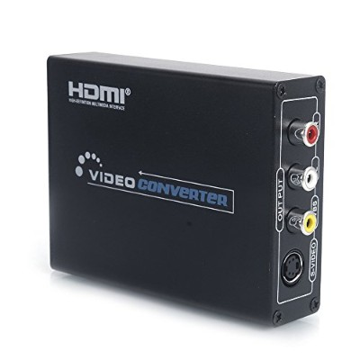 HDMI to コンポジット/S-Video変換器 1080P対応 HDMI to AV コンバーター HDMI入力 3RCA/S-Video/音声(L/R)出力 HDMIをアナログコンポジット...