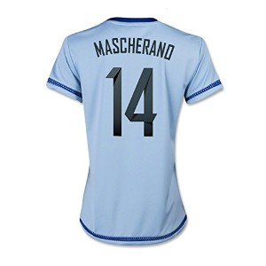 Adidas MASCHERANO #14 Argentina Home Soccer Jersey 2015 (WOMEN)- Authentic name and number of...