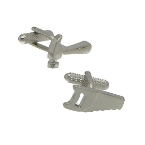 Hammer and SawシルバーメッキHammer and Saw Cufflinks