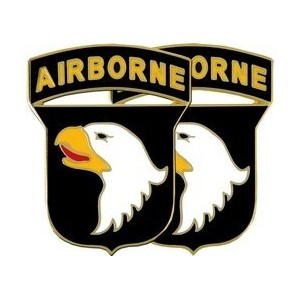 US Army 101st Airborne Division Cuff Links withギフトボックス