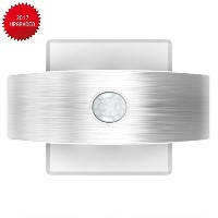 Sensor LED Wall Light, Kinnara Wireless Sconce Sensing Wall Lamp, USB Rechargeable or Battery...