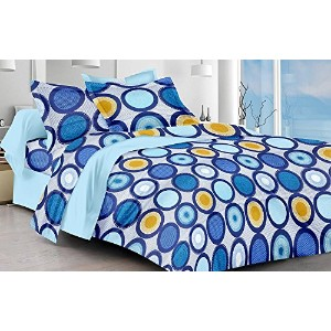 Cotton Single Bedsheet with 1 pillow cover