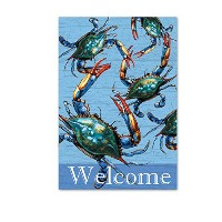 "Magnolia "" BLUE CRABS Welcome ""庭フラグ、13 "" x 18 """