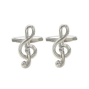 ローズマリー・コレクションTreble Clef Music Note Cufflinks