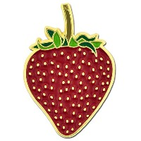 Pinmart 's Juicy Red Strawberry Fruit夏エナメルラペルピン 50