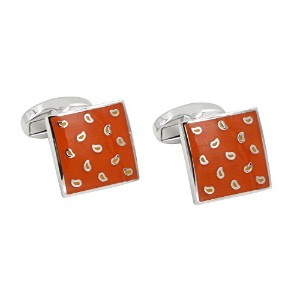 Tear DropオレンジCufflinks Gift for Men Who Have Everything | Cuff Links Gift for Him